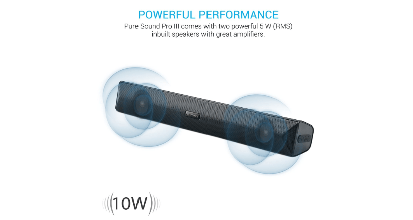 1. Portronics_Pure Sound Pro III Wireless Soundbar​