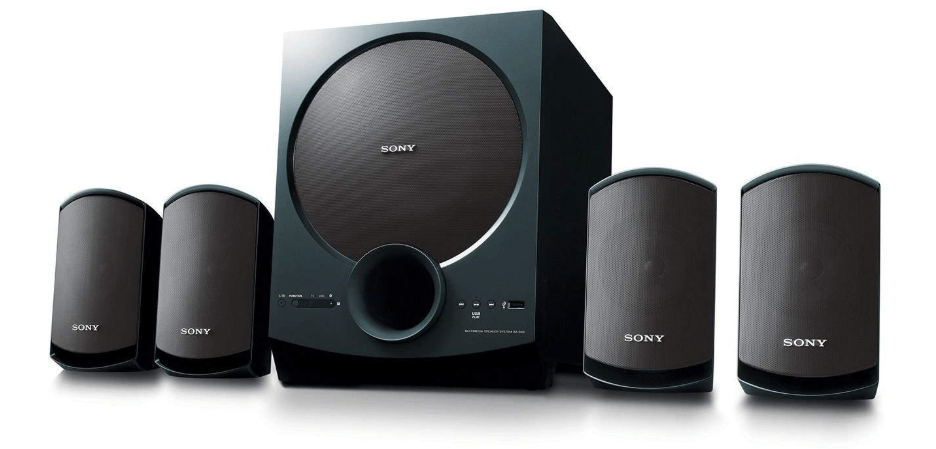 10. Sony SA-D40 C E12 Music System with Bluetooth