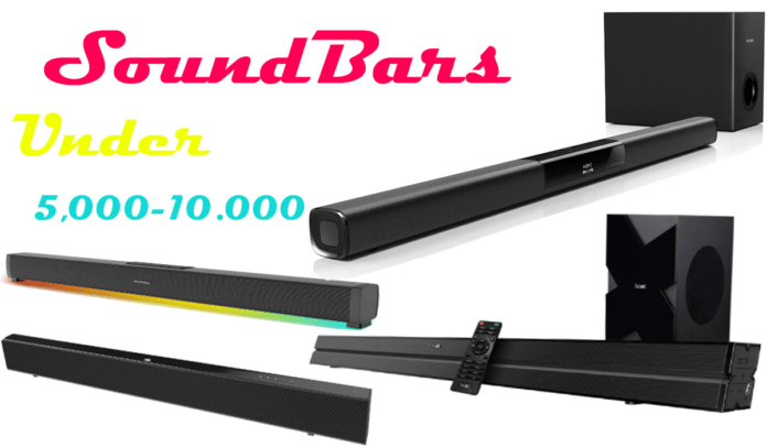 5 Soundbar Music Systems Under 5.000 to 10,000 rupees in India
