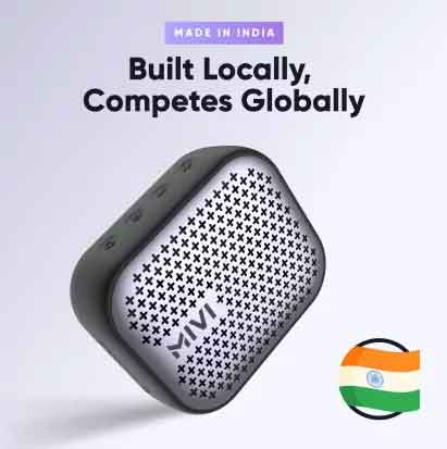 mivi ultra portable bluetooth speaker made in India