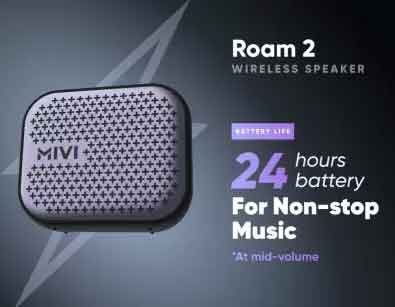 24 hours battery life from mivi roam 2