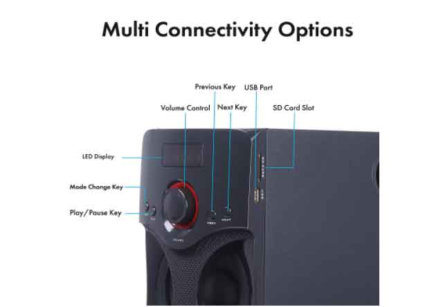 multi connectivity option on this Zebronics BT4440 Bluetooth speaker